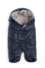 7 AM Enfant Nido Quilted Car-seat Baby Wrap - Large (Midnight Blue) by 7 A.M. Enfant