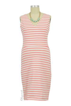 Boob Design Simone Organic Sleeveless Nursing Dress (Watermelon) by Boob Design