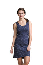 Boob Design Organic Dotted Nursing Dress (Navy Dot) by Boob Design