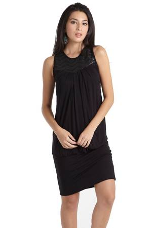 Tate Embellished Nursing Dress (Black) by MEV