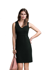 Boob Design Audrey Sleeveless Nursing Dress (Black) by Boob Design