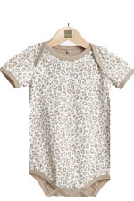 Printed Short Sleeve Onesie (Leopard Print) by MEV