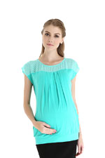 Claire Nursing Top by Spring Maternity (Mint) by Spring Maternity