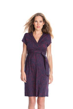 Seraphine Abba SS Nursing Dress (Navy & Red Print) by Seraphine