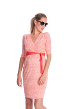 Seraphine Callie Nursing Dress (Coral Print) by Seraphine