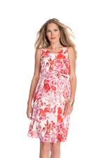 Seraphine Everly Maternity Dress (Pink & Red Floral Print) by Seraphine