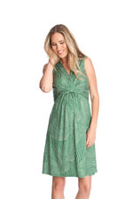 Seraphine Masha Sleeveless Maternity Dress (Green Print) by Seraphine