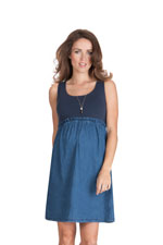 Seraphine Meryl Maternity Dress (Light Denim) by Seraphine