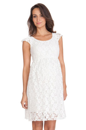 Seraphine Sloane Lace Maternity Dress (Off White) By Seraphine