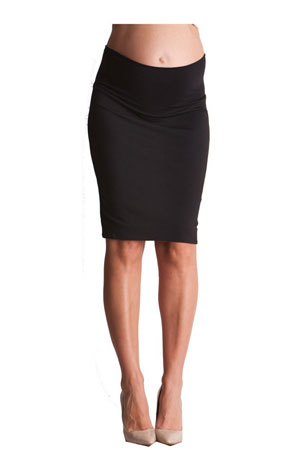 Seraphine Layne Pencil Maternity Skirt (Black) by Seraphine