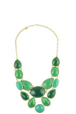 Oversized Green Statement Necklace (Green) by Jewelry Accessories