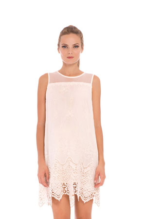 Bianca Lace Maternity Dress (Ivory) by Olian