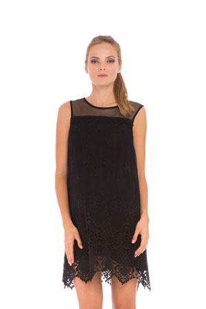Bianca Lace Maternity Dress (Black) by Olian