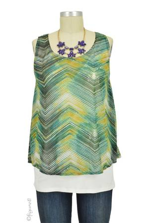 Kayla Chiffon Layered Nursing Top (Wave Print) by Annee Matthew