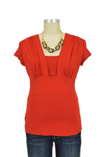 Ashley Nursing Top (Red) by Annee Matthew