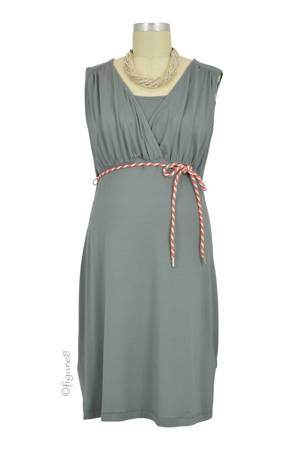 Chrissy Sleeveless Nursing Dress (Washed Army) by Noppies