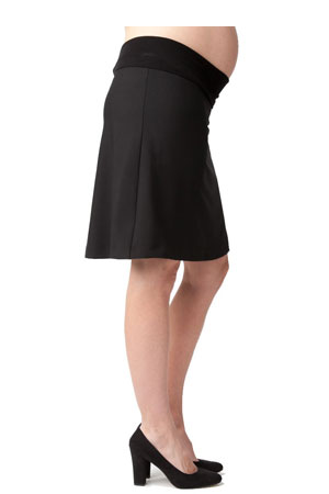 Florence A-Line, Lined Maternity Skirt (Black) by Ripe Maternity
