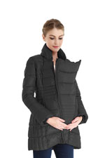 Bella 3-in-1 Down-Filled Mommy & Me Jacket by Spring Maternity (Black) by Spring Maternity