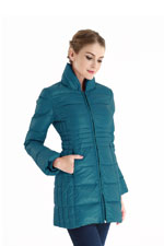 Bella 3-in-1 Down-Filled Mommy & Me Jacket by Spring Maternity (Teal) by Spring Maternity
