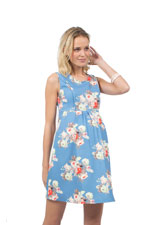 Colleen Vintage Print Woven Nursing Dress (Periwinkle Floral) by Spring Maternity
