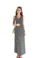 Spring Maternity Alyssa Maxi Tank Nursing Dress (Black Stripes) by Spring Maternity