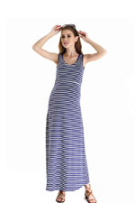 Spring Maternity Alyssa Maxi Tank Nursing Dress (Navy Stripes) by Spring Maternity