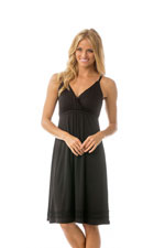 Majamas Madison Nursing Nightie (Black) by Majamas