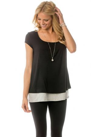 Majamas Orchard Nursing Top (Black) by Majamas