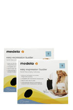 Medela Easy Expressions Bustier- 2-Pack (Black) by Medela