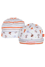 Magnificent Baby Reversible Baby Boy Cap (Woodland Origami) by Magnificent Baby