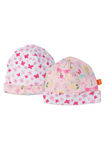 Magnificent Baby Reversible Baby Girl Cap (Flamingo Print) by Magnificent Baby