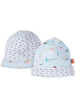 Magnificent Baby Reversible Baby Boy Cap (Swim Club Print) by Magnificent Baby