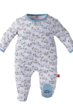 Magnificent Baby Boy's Footie - Tortoise & Hare (Blue) by Magnificent Baby
