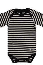 Painter Stripes Tot Onesie (Black & White Stripes) by MEV