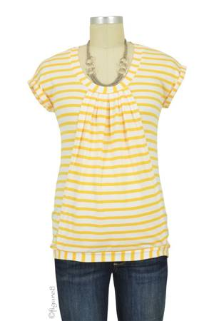 Manon Nursing Top (Yellow & White Stripes) by Pomkin