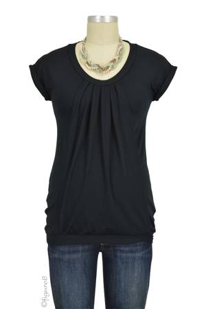 Manon Nursing Top (Black) by Pomkin