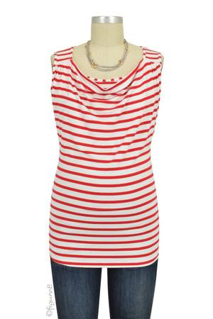 Marie Nursing Tank (Red Stripes) by Pomkin