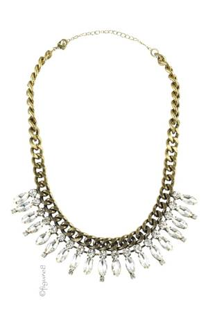 Shiny Faux Diamond Necklace (Faux Diamond) by Jewelry Accessories