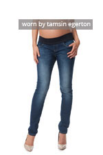 Seraphine Faith Under-Belly Maternity Skinny Jeans (Blue Wash) by Seraphine