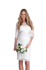 Seraphina Ivory Lace Luxe Maternity Dress (Ivory) by Seraphine
