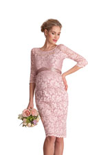 Seraphina Lace Luxe Maternity Dress (Blush) by Seraphine
