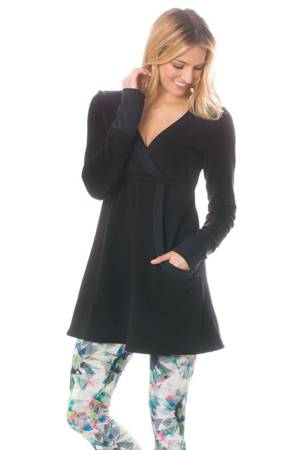 Majamas Samoa Fleece Nursing Tunic (Black Fleece) by Majamas