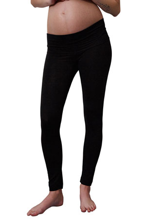 Boob Design Once-On-Never-Off Maternity Leggings (Black) by Boob Design
