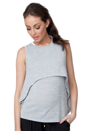 Ripe Swing Back Nursing Tank (Ash) by Ripe Maternity