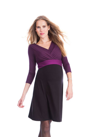 Seraphine Adelaide Nursing Dress (Black/Berry) by Seraphine