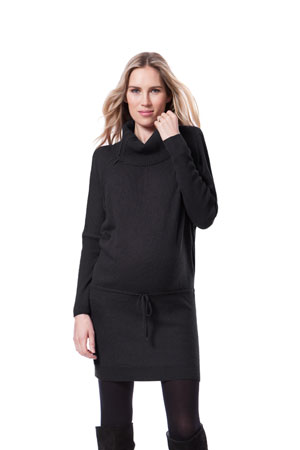 Seraphine Hudson Nursing Sweater Tunic-Dress (Charcoal) by Seraphine