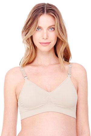 71e669bae63343 Ingrid   Isabel Seamless Drop Cup Back Clasp Nursing Bra (Nude) by Ingrid