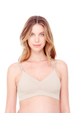 Ingrid & Isabel Seamless Drop Cup Back Clasp Nursing Bra (Nude) by Ingrid & Isabel