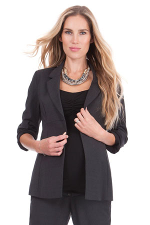 Seraphine Carol Wool Career Maternity Jacket (Charcoal) by Seraphine