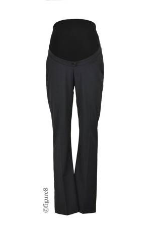 Seraphine Carol Wool Career Maternity Pants (Charcoal) by Seraphine